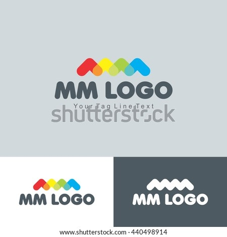 mm logo colorful design