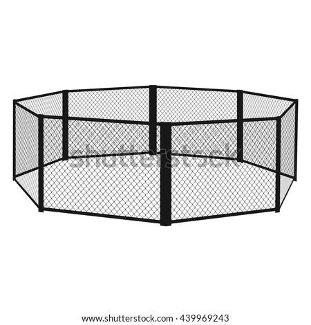 mma cage mma arena vector