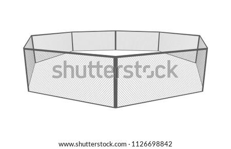 mma cage octagon arena vector
