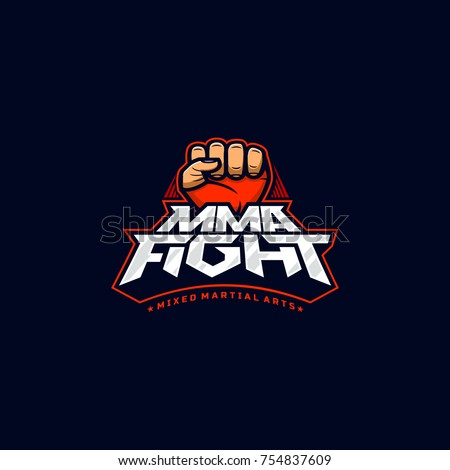 mma fight logo mixed martial