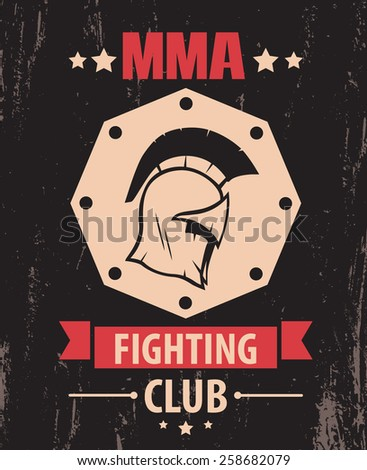 mma fighting club color vintage