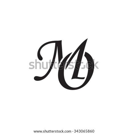 MO initial monogram logo Foto stock ©