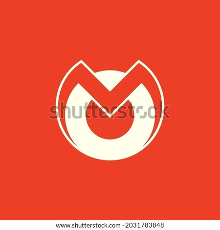MO lettermark logo. Combination of letters M and O. MO or OM monogram logo Foto stock ©