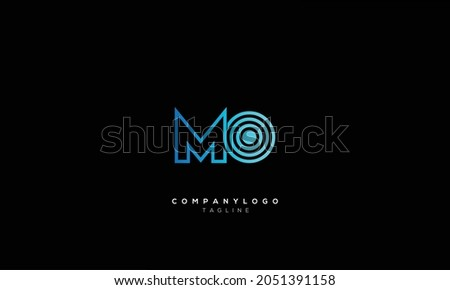 MO M AND O Abstract initial monogram letter alphabet logo design Foto stock ©