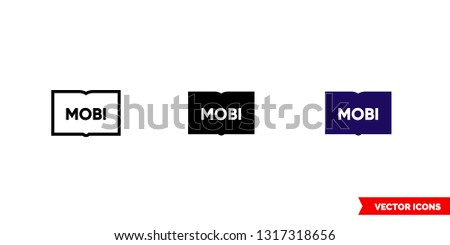 mobi icon of 3 types  color