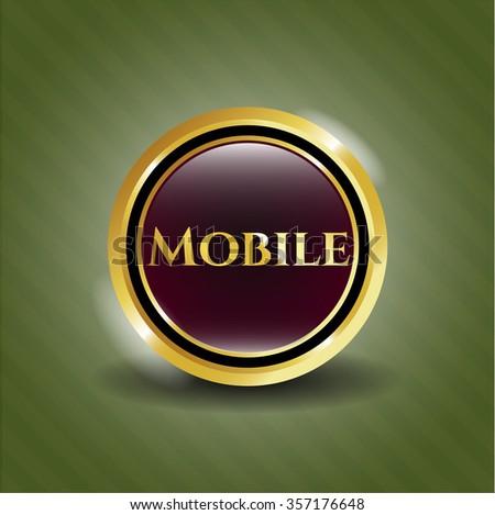 Mobil gold emblem