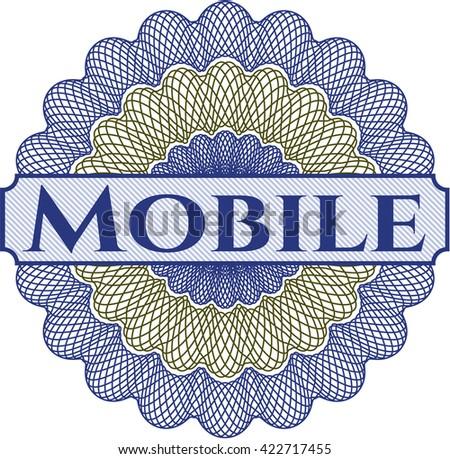 Mobile abstract linear rosette