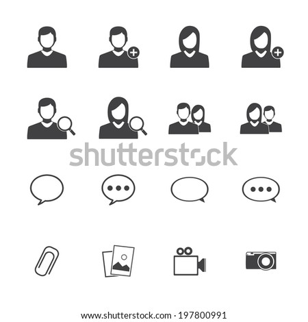 Mobile aplication Chat icons
