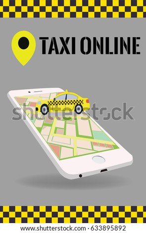 mobile app for looking taxi concpet