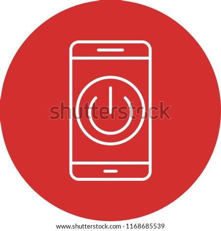 Mobile App Line Circle Icon #1168685539