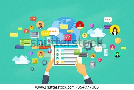 Mobile Application Development, Tablet App Programming Vector Illustration #364977005