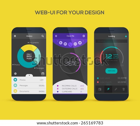 Mobile application interface design