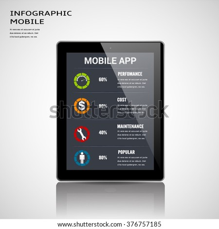 Mobile Apps Information Infographic Template. Stock Vector ...