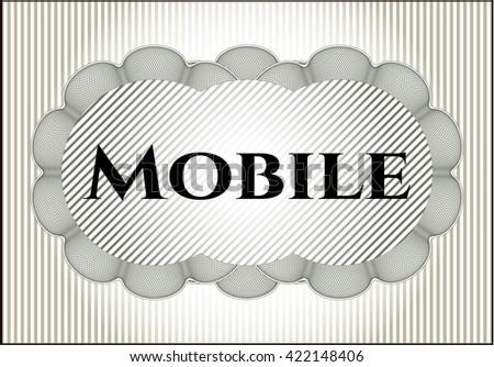 Mobile banner or card