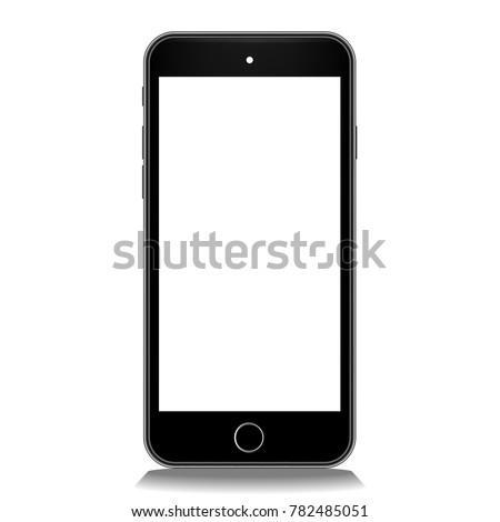 mobile black smart phone icon gadget