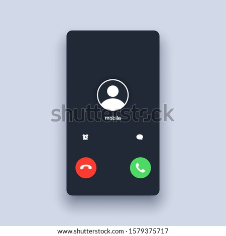 Mobile call screen template. Call screen smartphone interface mockup. Web app ui display template. Vector illustration. EPS 10