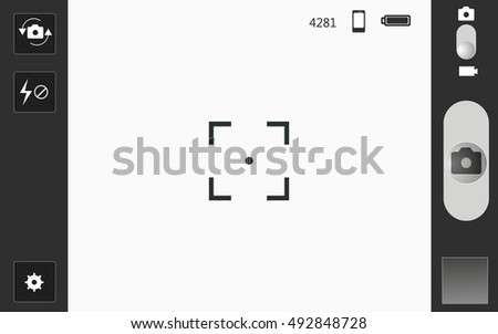 mobile camera interface template background. Vector illustration