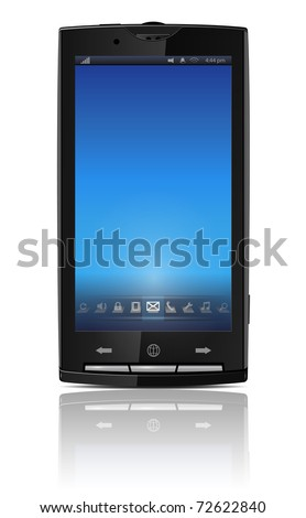 Mobile, cell phone - original design, vector illustration.