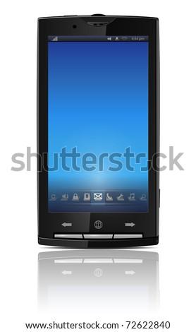 Mobile, cell phone - original design, vector illustration.