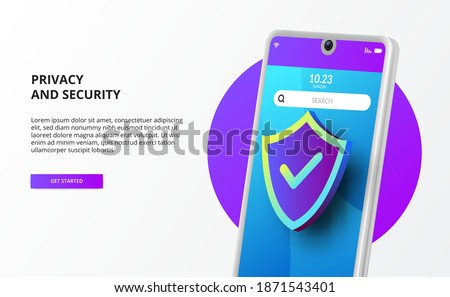 mobile 3d phone with 3d shield protection for privacy and security protection firewall virus malware data