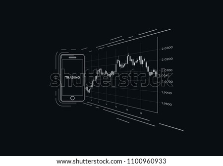 Free japanese number vector download free vector art stock mobile device with finance japanese candlestick chart vector abstract flat illustration financial market data asfbconference2016 Gallery