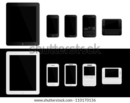 Mobile Devices Black and White