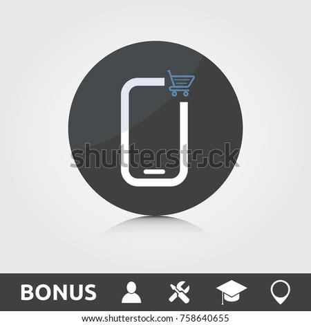 Mobile e commerce icon