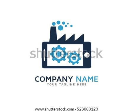 Mobile Factory Logo Design Template