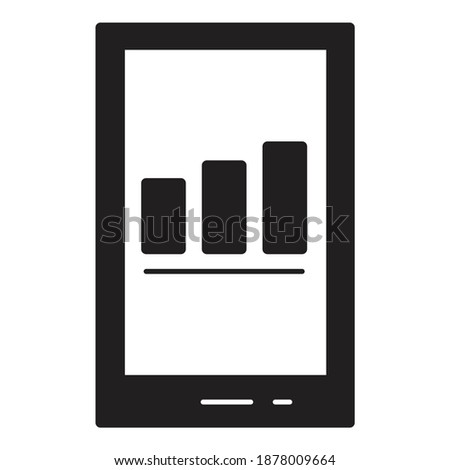 Mobile Finance Chart Rating Info Flat Icon Isolated On White Background Stock photo ©