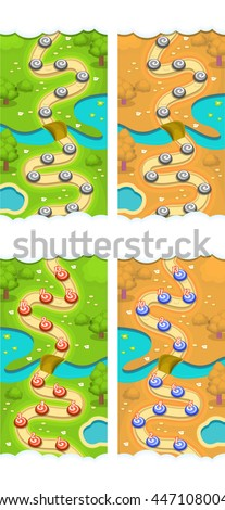 mobile game reskin level map