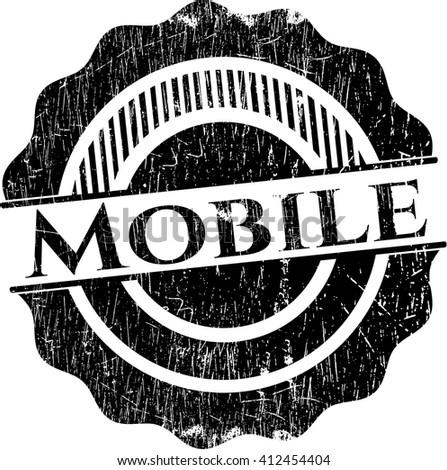 Mobile grunge stamp