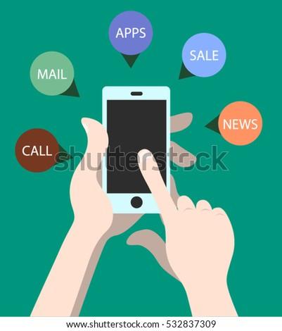 mobile hand shopping