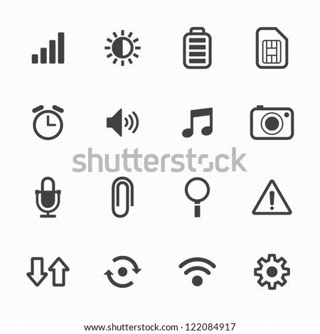 Mobile Icons with White Background