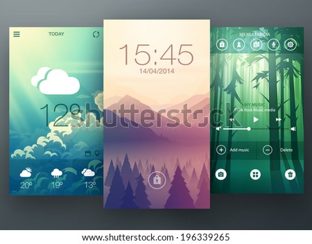mobile interface wallpaper