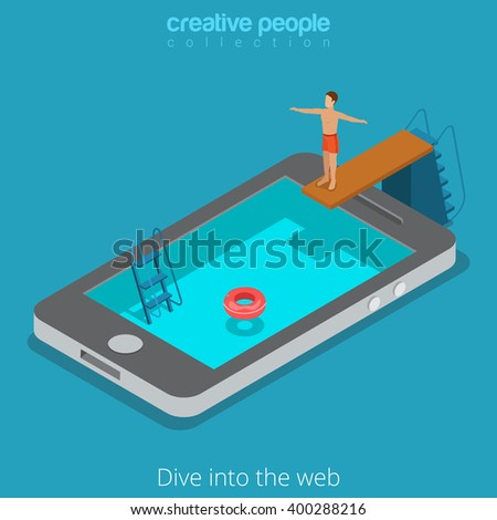 mobile internet surfing dive