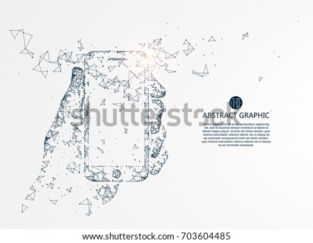 Mobile Internet technology, vector illustration.