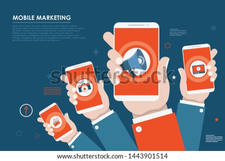 Mobile marketing, e-commerce, internet advertising and promotion.