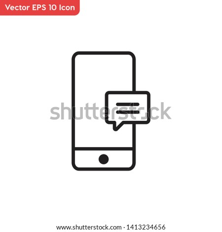 Mobile message, message vector icon