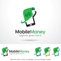 Mobile Money Logo Template Design Vector