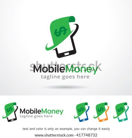 Mobile Money Logo Template Design Vector