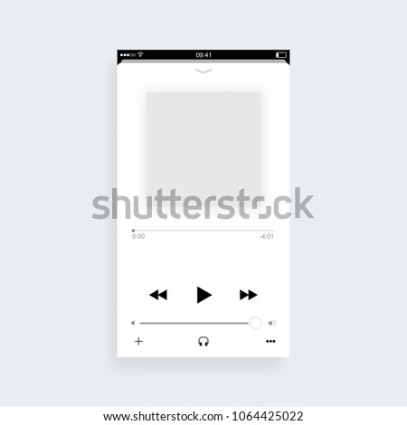 Mobile music player app concept. Vector illustration
