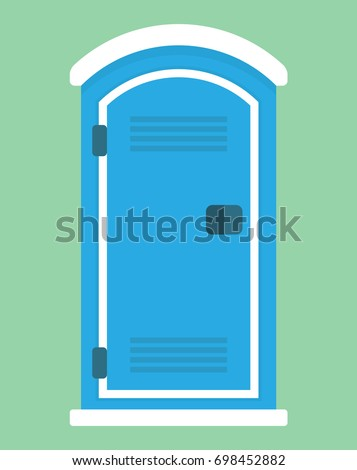 Mobile or portable toilet icon