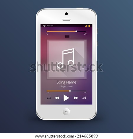 Mobile phohe and media player vector illustration