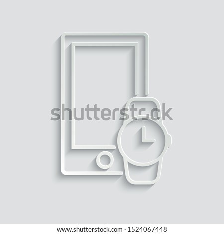 mobile phone and smart watch icon.