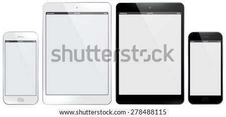 Mobile Phone and Tablet PC Vector illustration