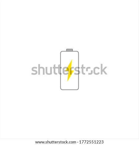 mobile phone battery icon. illustration for web and mobile design.