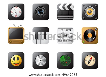 Mobile phone buttons, set 2