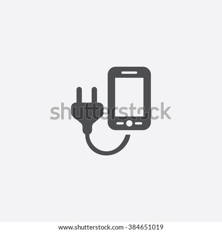 mobile phone charge icon