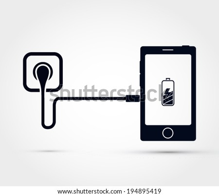 mobile phone charging vector