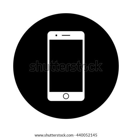 mobile phone circle icon black